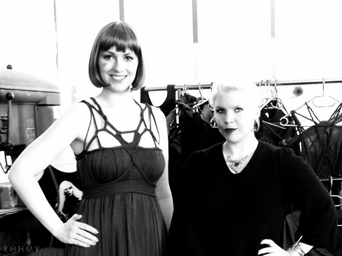 Myriam von Rohmy (right) & Model Lili Marleen (left) / Impressionen Fashion City East/ www.allaboutrohmy.com