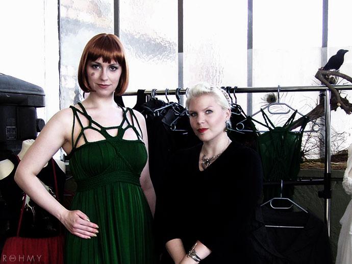 Myriam von Rohmy (right) and Model Lili Marleen (left) / Fashion: ROHMY / Impressionen Fashion City East/ www.allaboutrohmy.com